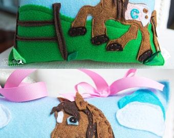 Horse Pillow, Horse Tooth Fairy Pillow, Name Pillow, Personalized Baby Pillow, Tooth Fairy Pillow Girl, Tooth Fairy, Personalized Baby