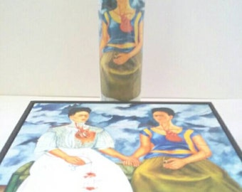 Frida Kahlo Glass Container Candle, Frida Kahlo, Mexican Artist, Glass Candle, Container Candle, Made By Mod.