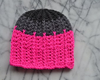 Hot Pink Slouchy Hat - Ready to Ship