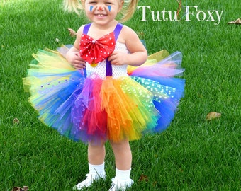 Clown Tutu Dress, Clown costume, Clown Tutu, Carnival Birthday Outfit, Circus Birthday Tutu, Circus Costume,