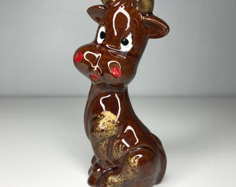 vintage brown cow figurine Japan
