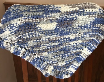 Hand Knit Chenille Baby/Lap Blankets, Soft and snuggly, Baby's favorite, Security Blanket, Soothing Feel, Comforting