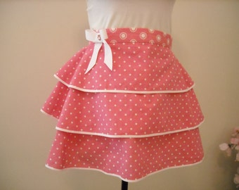 Pink and White Hostess Apron