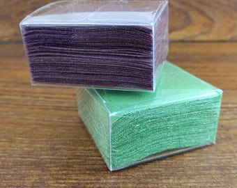 54 starched 2 inch x 2 inch silk squares for Tsumami Kanzashi - choose one color