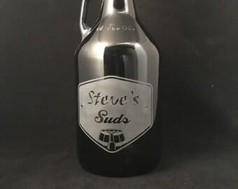 growler, Personalized beer growler, Monogram, Custom Growler, Growlers, Beer, Craft beer, Beer stein, Beer mug, Pounder