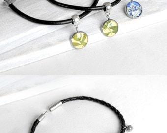 Black bracelet Cute bracelet charm for mother daughter gift Small gift Couples bracelet for girls bracelet best friends gifts for sisters