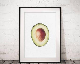 Avocado art, Kitchen art, Avocado print, Food art, Printable print, Kitchen wall art, Art for kitchen, Avocados, Home decor wall art