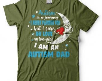 Autism Dad T-Shirt Autism Awareness Birthday gift Father Tee Shirt