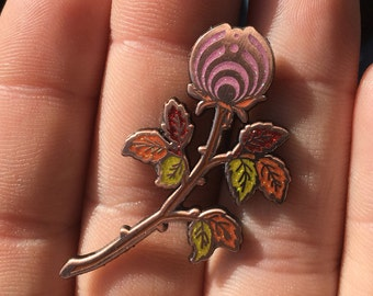 Bassnectar Rose Pink Heady Hat Pin