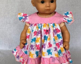 15 inch doll clothes - 15 inch doll dress - baby doll clothes - fits the Bitty Baby and similar 15 inch baby dolls.
