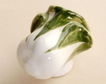 Cabbage Knobs Drawer Knobs Handles Kitchen Cabinet Knobs Kids Dresser Knobs Pulls Ceramic Knob White Green Hand-Painted Furniture Hardware