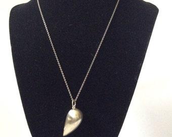 Georg Jensen Denmark Modernist Abstract Heart Pendant Necklace, Jacqueline Rabun Design