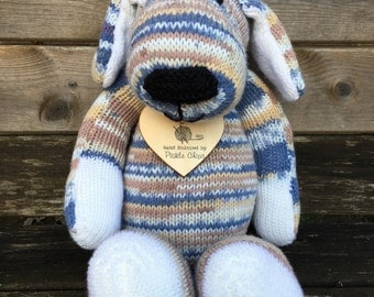 Hand Knitted Dudley Dog
