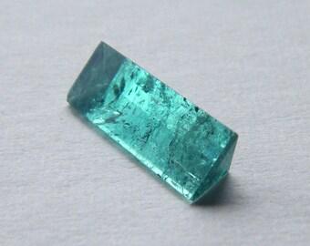 Loose Tourmaline Gemstone Unique Blue Green TOURMALINE Jewelry Tourmaline Loose Stones Blue Tourmaline Baguette Table Cut 18 x 7 mm 3 ct