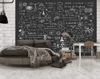 Photo Wallpaper Wall Murals Non Woven 3D Modern Art Math School Education  Wall Decals Bedroom Decor