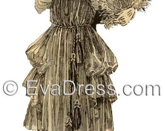1920 Evening Frock Pattern by EvaDress