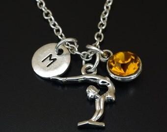 Gymnast Necklace, Gymnast Charm, Gymnast Pendant, Gymnast Jewelry, Gymnastics Necklace, Gymnastics Jewelry, Gymnastics Team Gifts, Gymnast