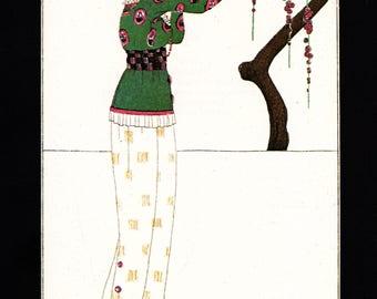 1979 Vintage Art Deco Fashion Print Journal des Dames et des Modes