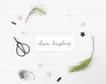 Place Cards Modern & Minimal - Printable Design 25 Cards