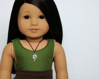 Shamrock Necklace - 18 Inch Doll Clothes // Jewelry