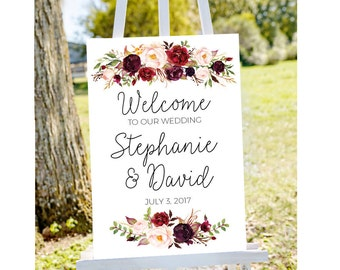 Wedding welcome sign etsy wedding welcome sign printable wedding sign welcome to our wedding sign wedding signs junglespirit Choice Image