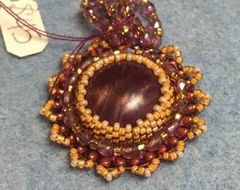 Gypsy Rose Emroidered & Embellished Beaded Pendant