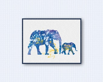 Elephant Watercolor Poster 2