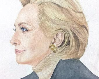 Hillary Clinton Painting