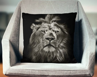 Lion Pillow | Lion Decor | Lion Gifts | Safari Decor |  Lion Home Decor | African Gifts | African Pillow | Safari Bedding | African Decor