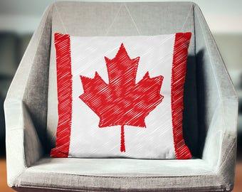 Canadian Flag Pillow | Canada Flag Decor | Canada Pillow | Canada Gifts | Canada Decor