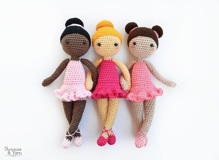 Amigurumi Ballerina Doll : CROCHET PATTERN Tracey the Ballerina Doll Amigurumi Doll