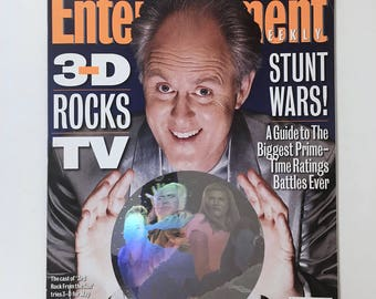 3rd Rock from the Sun Magazine, Entertainment Weekly, Hologram Cover, 3 D Episode, Vintage Collector Issue, 1990s, Kodak Film Advertisement