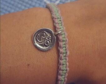 String Friendship Bracelet, Square Knot Bracelet, Macrame Bracelet, Boho Bracelet, Mindfullness, String Bracelet, Yoga, Ohm, Yogi, Jewelry