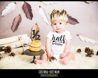Half Birthday, One half birthday, Half brithday shirt, 1/2 birthday bodysuit, Boy half birthday, Baby Gift, Gift Gender Neutral