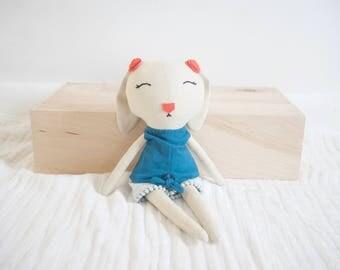 Linen Bunny Doll