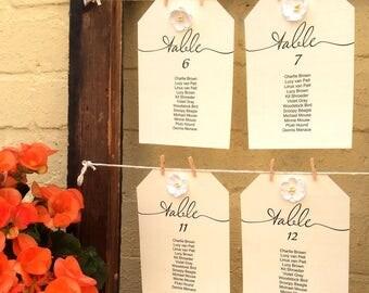 """Wedding Seating Chart Template, Printable 5""""x7"""" Wedding Seating Plan, Wedding Seating Cards, Wedding Seating Chart, Printable Seating Plan"""