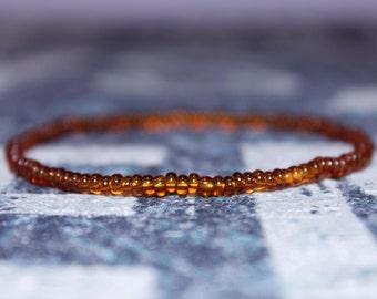 Beaded Bracelet Men Yellow - Yellow Gift for Men - Seed Beaded Bracelets, Mens gift for him Husband Gift , Mens Seed Bead