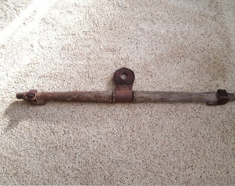 """40"""" Antique Vintage Wooden Horse Ox Yoke Evener with Leather and Buckles"""