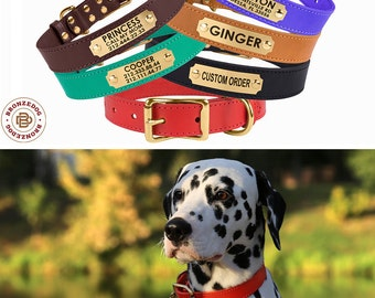 Leather Dog Collar,Dog ID Collar, Custom Dog Collar, Dog Collars, Engraved Dog Collar, Personalized Dog Collar, Buckle Dog Collar, Dog Gift