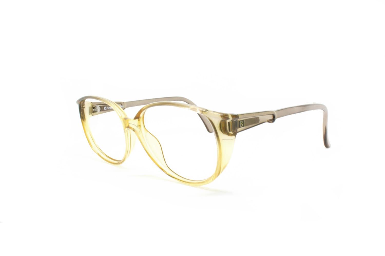 eb111abdadf Terry Brogan vintage eye glasses bicolor yellow and gray acetate Optyl