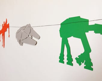 Star Wars Banner (Transport Vehicles) - Death Star, Millennium Falcon, AT Walker, X-Winged Fighter