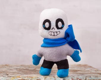 Undertale Inspired - Blueberry Sans soft plush toy, pocket plush toy