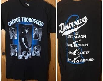 George Thorogood and The Destroyers 1986 Original Vintage Concert Tee