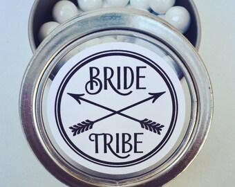 Bride Tribe, Party Favors, Bridal Wedding Sticker, Shower Favors, Wedding Favors, Bachelorette Favors, Custom Sticker, Bride Tribe Sticker