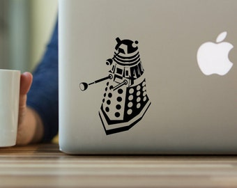 Doctor Who Dalek Decal, Exterminate, Dalek, Dr Who, Whovian, Macbook Laptop Yeti Decal, Permanent Decal,