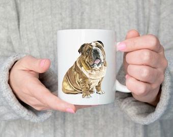 Bulldog Mug, Bulldog Cup, Bulldog Coffee Mug, Bulldog Mom, Bulldog Gift, Bulldog Lover Gift, Dog Lover Gift, Dog Lover Mug, Cute Bulldog Mug