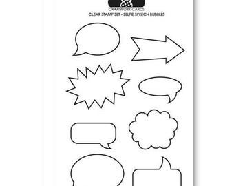 Selfie Speech Bubbles - A6 Clear Stamp Set from Craftwork Cards - speech bubble stamps