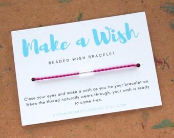 Custom Beaded Wish Bracelet or Anklet