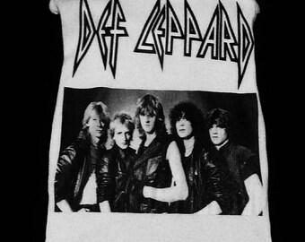 Def Leppard, Def Leppard tank top, Def Leppard shirt, Def Leppard Clothing, glam metal shirt, hair metal shirt, rock n roll clothing, metal