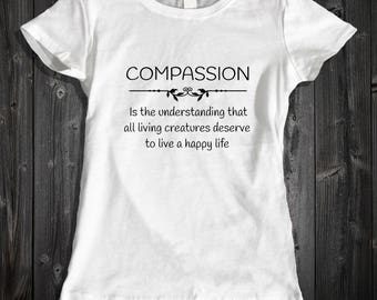 Vegan Definition Shirt Vegetarian Clothing - Animal Cruelty Shirt For Vegetarians Compassion Shirt Animal Cruelty Vegetarian Clothing